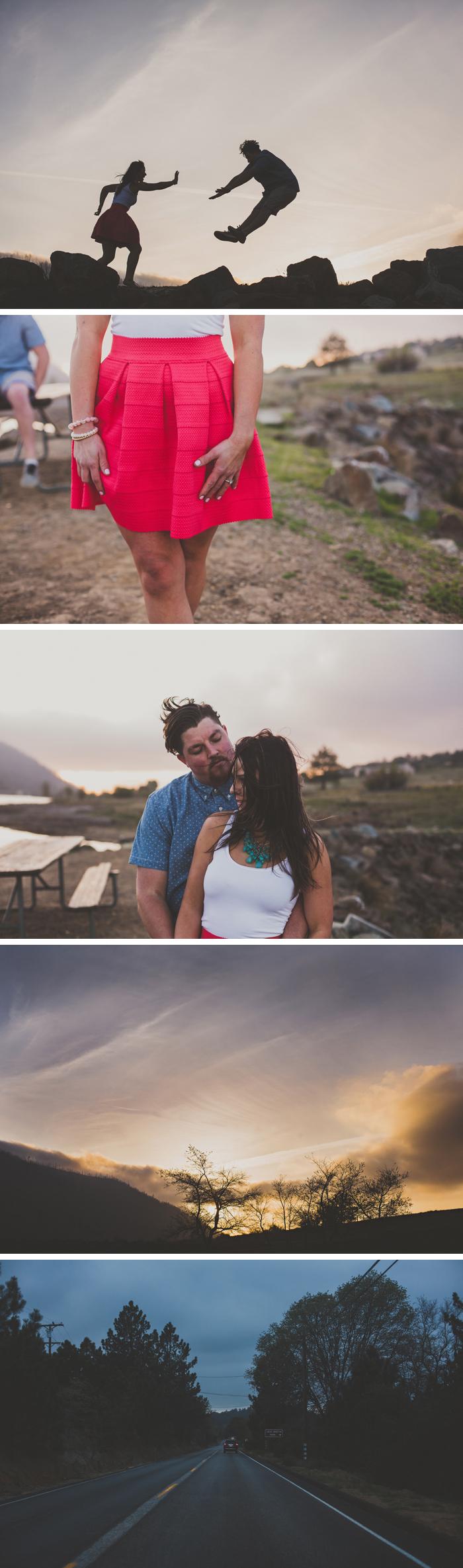 Lake Cuyamaca Engagement Photos