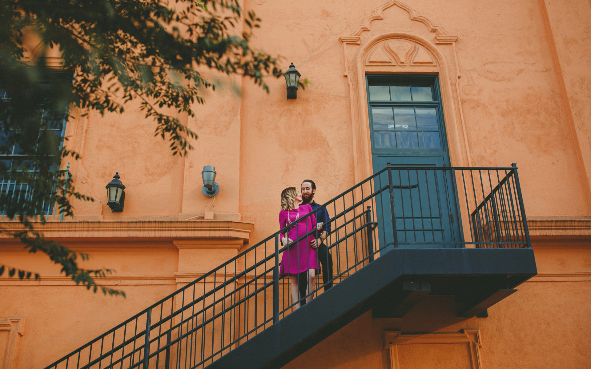 San Diego Horton Plaza Engagement Photos
